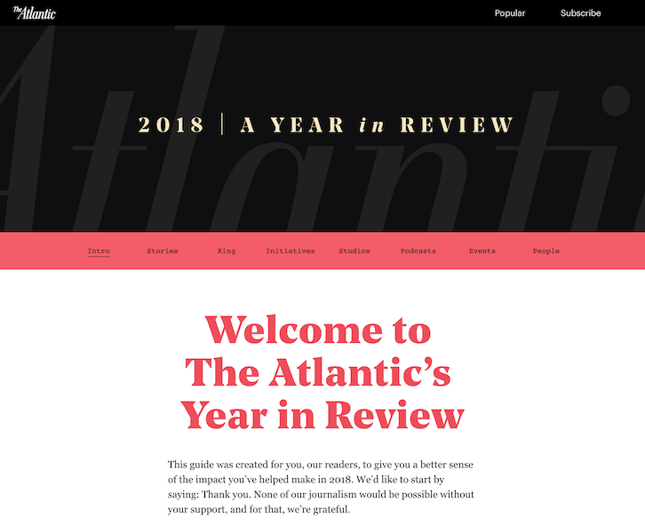 the atlantic 2018 year in review